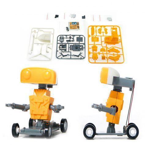 3 in 1 DIY Brine Power Device Engineering Vehicle Model Educational Intelligent Toy - RUBBER DUCKY YELLOW