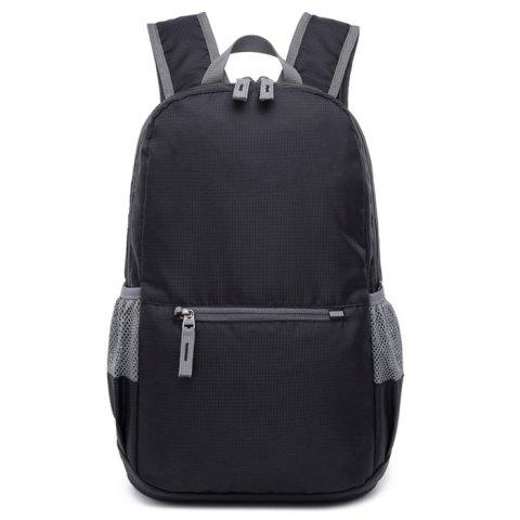 Outdoor Travel Folding Waterproof Lightweight Sports Backpack - BLACK