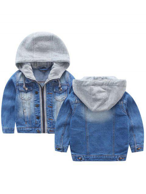 8 - A2O6Q1 _ 6 - A25.3.02 Boys Autumn Denim Hooded Jacket - BLUE 5-6