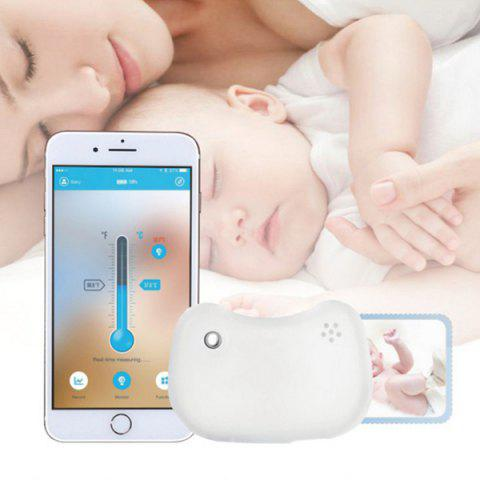 Baby Smart Wear Wireless Thermometer Smart Bracelet Bluetooth Monitor Fever Thermometer High Temperature Alarm - WHITE