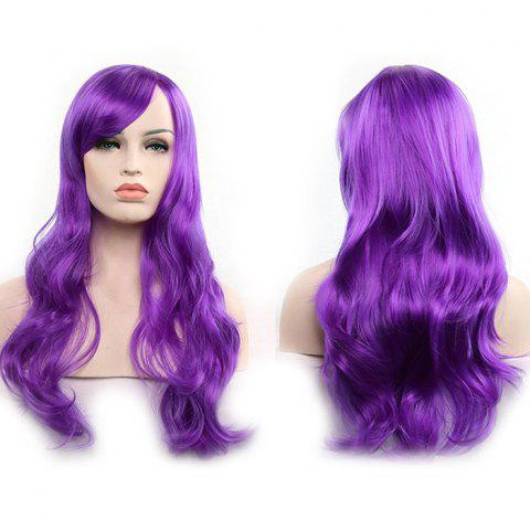 Anime Europe America 70cm Long Curly Wig Hair - MAGENTA