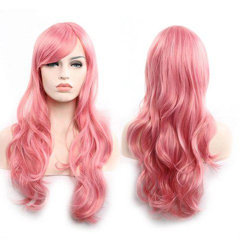 Anime Europe America 70cm Long Curly Wig Hair - WATERMELON PINK