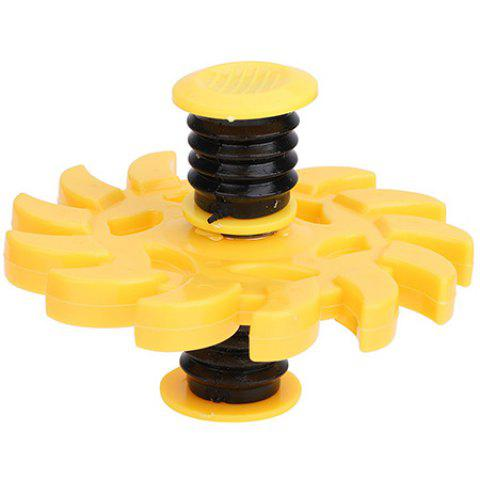 Fingertips Bounce Decompression Gyroscope - YELLOW