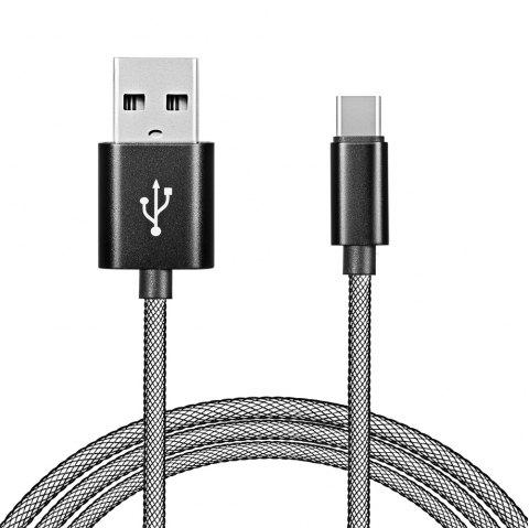 gocomma USB3.1 Network Cable for Android Type-C Fast Charge - BLACK 1PC