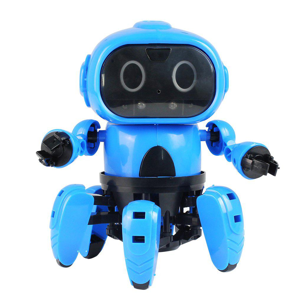 MoFun - 963 DIY Assembled Electric Robot Infrared Obstacle Avoidance Educational Toy - DODGER BLUE