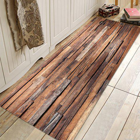 Wood Grain Absorbent Non-slip Floor Mat for Living Room Bathroom Kitchen - multicolor W16 X L47 INCH