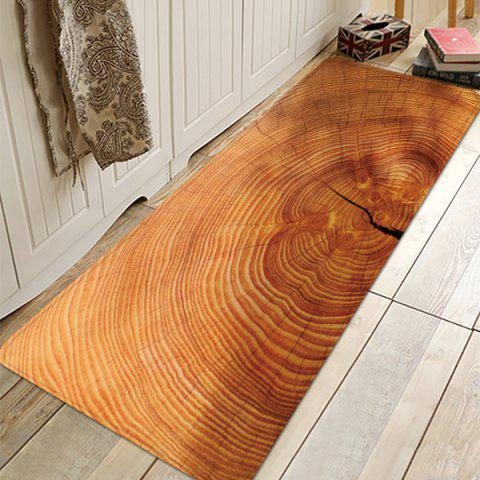 Printed Living Room Strip Carpet Non-slip Floor Mat for Entry Door Kitchen Bathroom Wood Annual Ring Circle - BURLYWOOD W16 X L47 INCH