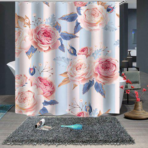 2019 Beautiful Waterproof Shower Curtain In ROBIN EGG BLUE W71 X L79