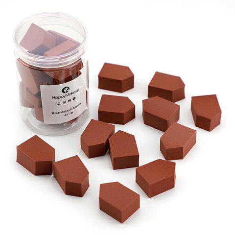 Jelly Cosmetic Puff Dry and Wet Beauty Egg 12pcs - COFFEE
