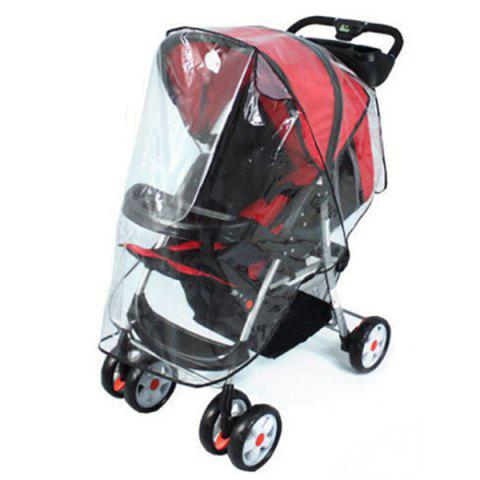 Universal Waterproof Transparent Rain Cover for Baby Stroller - TRANSPARENT