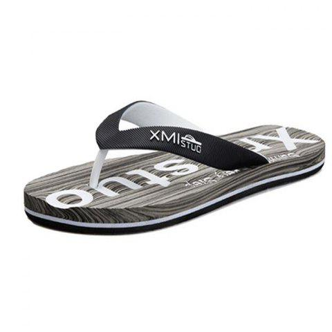 ad528defa74d8 XMST - 7490M Men's Flip Flops Skid Feet Sandals Beach Shoes - BLACK EU 42