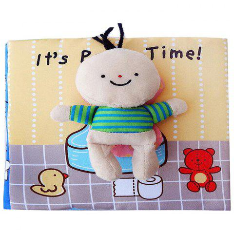 Baby Early Education Puzzle Cloth Book for 0 to 6 Years Old Children - multicolor A 1PC