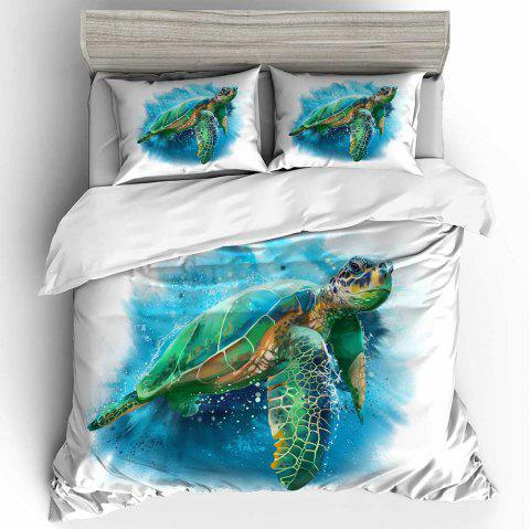 3D Digital Printing Turtle Beddings 3pcs - multicolor A FULL