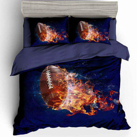 3D Digital Printing Fire Olive Beddings 3pcs - multicolor A KING