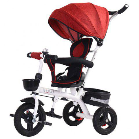 Lightly Tricycle Bicycle Baby Trolley Stroller - RED
