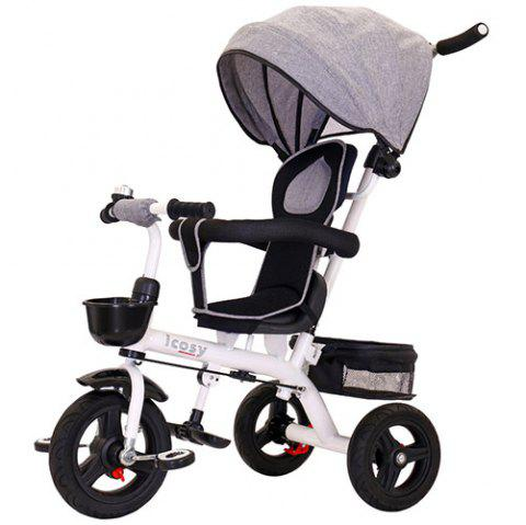 Lightly Tricycle Bicycle Baby Trolley Stroller - GRAY CLOUD