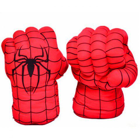 Plush Toys Boxing Gloves 1 Pair - RED BLACK LINE