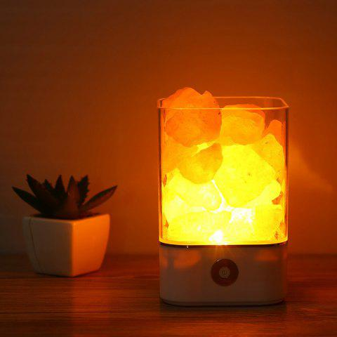USB Crystal Natural Himalayan Lava Lamp - WHITE