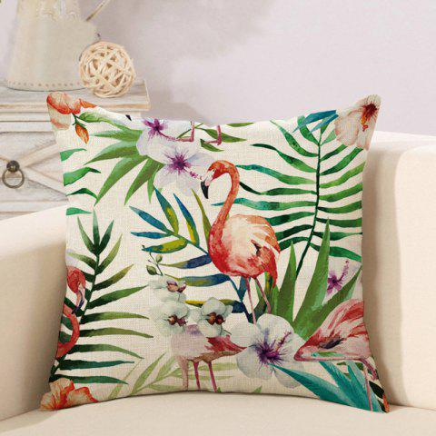 H96 Linen Pillow Tropical Plant 2pcs - multicolor