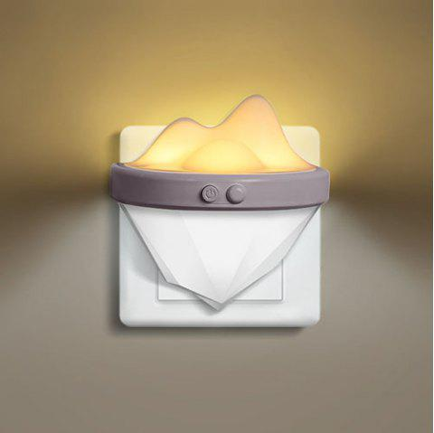 Creative Wall Lamp Infrared Remote Control Night Light - WHITE