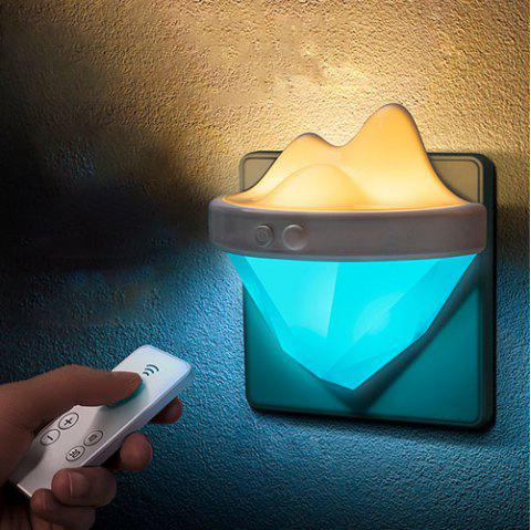 Creative Wall Lamp Infrared Remote Control Night Light - DAY SKY BLUE