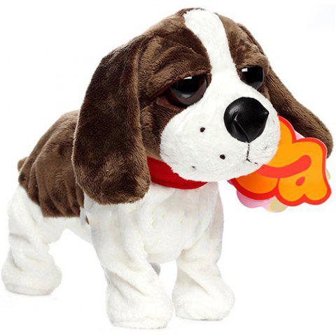 Electric Voice Control Dog Plush Toy - COFFEE