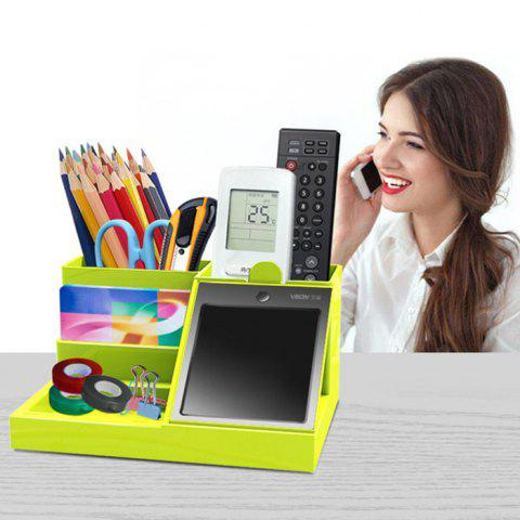 Multi-function Pen Holder with LCD Electronic Writing Pad - GREEN APPLE