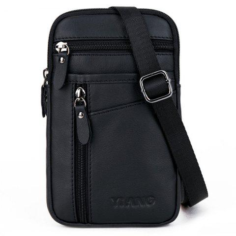 YIANG D1 Men's Multifunction Vertical Crossbody Bag - BLACK