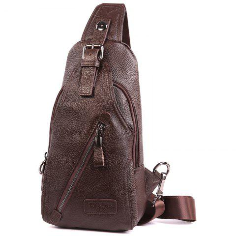 YIANG 86051 Multi-function Mini Pockets Sports Outdoor Chest Bag - COFFEE