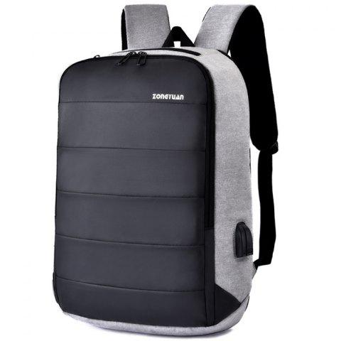 Men Charging Anti-theft Stylish Notebook Travelling Backpack - LIGHT GRAY