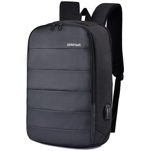 Men Charging Anti-theft Stylish Notebook Travelling Backpack - BLACK