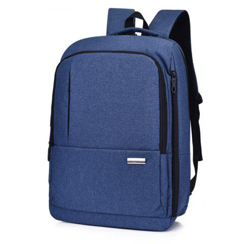 Men Business Leisure Multifunctional Large Capacity Backpack - BLUE