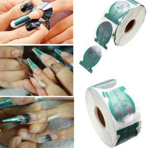 Nail Paper Tray Fishtail Shape Light Therapy Nail Crystal Nail Extension Special Tool 500 Pieces - MILK WHITE