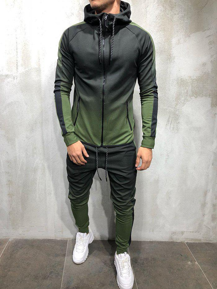 Stylish Slim Design Durable Sports Suit - GREEN 3XL