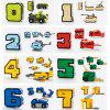10 Numbers 5 Symbols Transformation Building Blocks Educational Toy 15pcs - multicolor