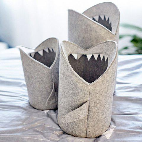 Felt Storage Basket for Clothing Sundries Whale Creative Design Nordic Style Large Size - LIGHT GRAY L