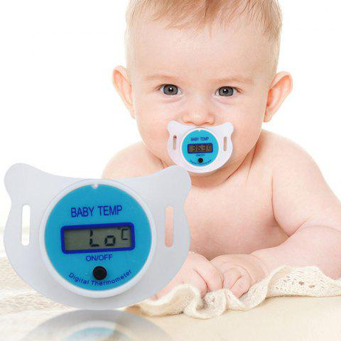 Baby Children's Nipple Thermometer Medical Silicone Pacifier LCD Digital Health Safety Care Tool - DEEP SKY BLUE