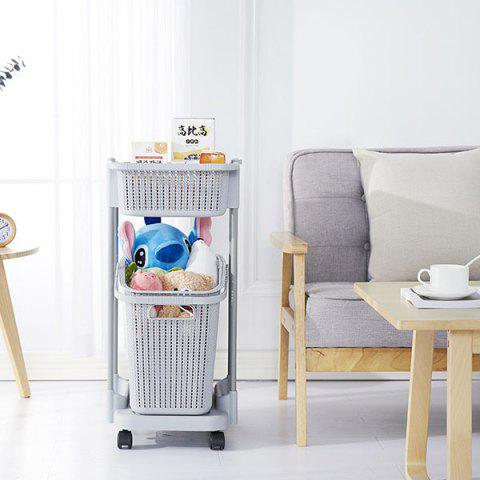 Multi-layer Creative Removable Cart Hamper Storage Racks - GRAY GOOSE 41.5*35*97