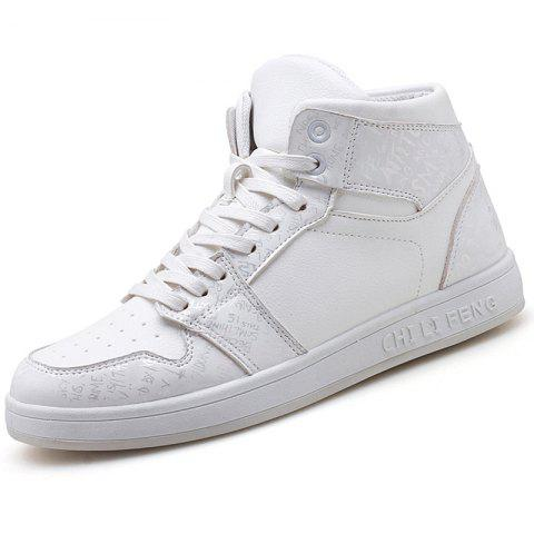CF - HD006 Men's Medium Fashion Skateboarding Shoes - WHITE EU 44