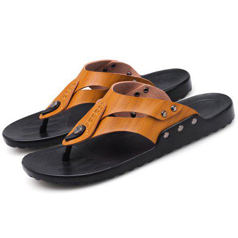 Stylish Personality Versatile Comfortable Slippers for Men - BROWN EU 44