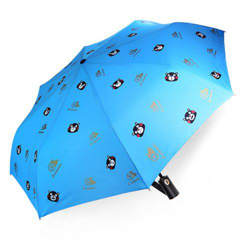 KUMAMON Automatic Sunshine Rain Umbrella - DAY SKY BLUE