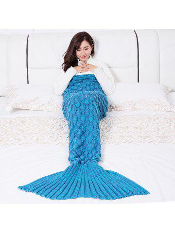 28011012292 Mermaid Blanket Fish Scale Knitted Mermaid Tail Blanket for Children