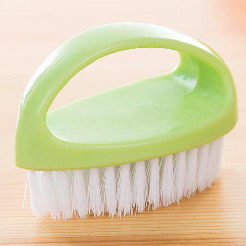 Egg-shaped Multifunctional Soft Hair Cleaning Brush - GREEN YELLOW
