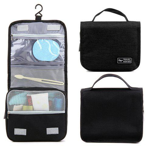 Waterproof Hook Cosmetic Bag - BLACK