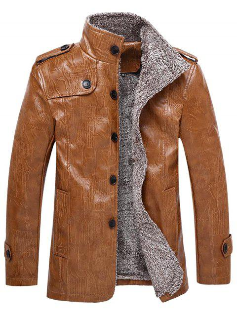 Furs Thickened Fur Jackets for Men - YELLOW XL