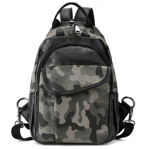 Men's Fashion Trend Camouflage Backpack - WOODLAND CAMOUFLAGE