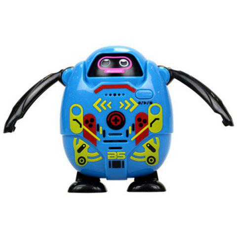 SILVERLIT Mini Recording Face Change Small Robot Electric Children Interactive Toy - DEEP SKY BLUE