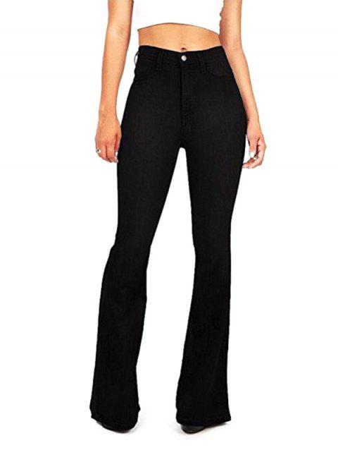 Women Leisure Elastic Comfortable Slim Pants - BLACK M