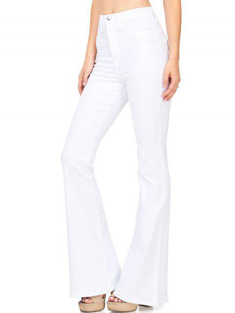 Women Leisure Elastic Comfortable Slim Pants - WHITE L