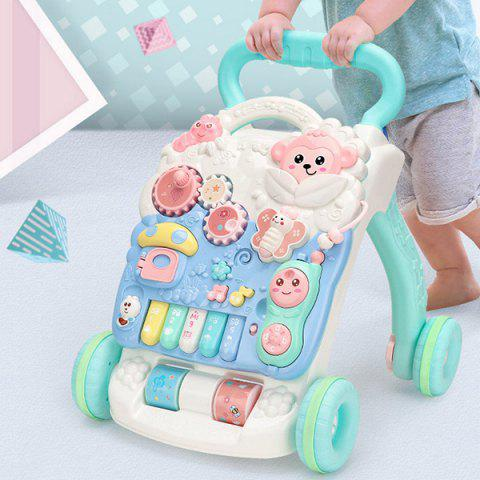 Early Education Puzzle Children's Trolley with Water Tank Baby Walker Toy - LIGHT AQUAMARINE